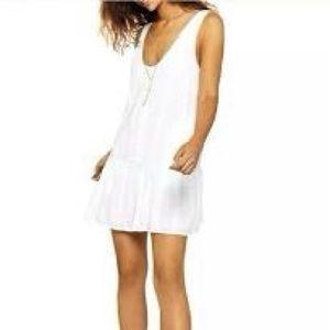 BCBGeneration M White Summer Romper Short Dress
